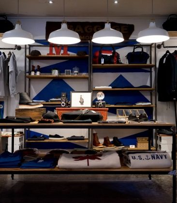 brick and mortar store interior