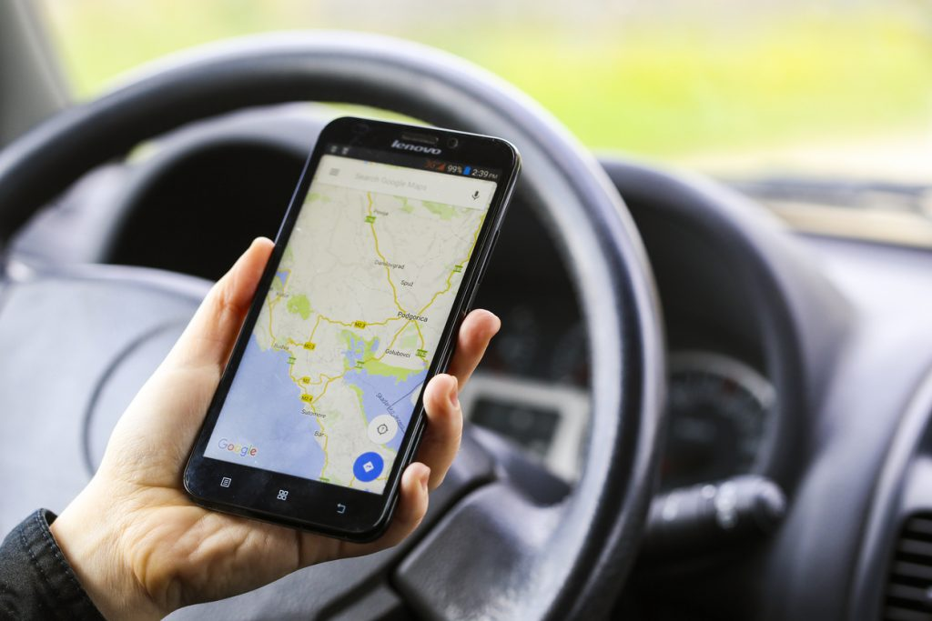 Using navigation in car
