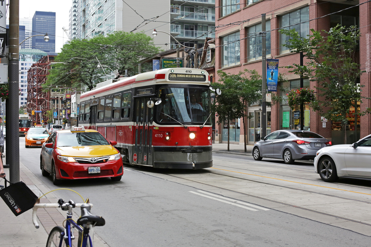 Toronto Streetcar on 300-block King Street West, the Entertainment District